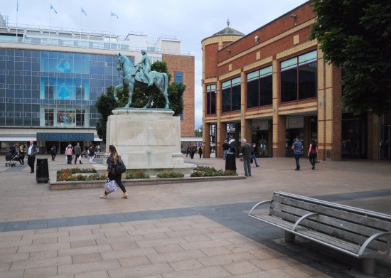 Coventry, UK: Lady Godiva in her pedestrianized location