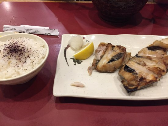 Novi, Μίσιγκαν: Grilled cod- comes with a bowl of rice and a bowl of original udon noodles