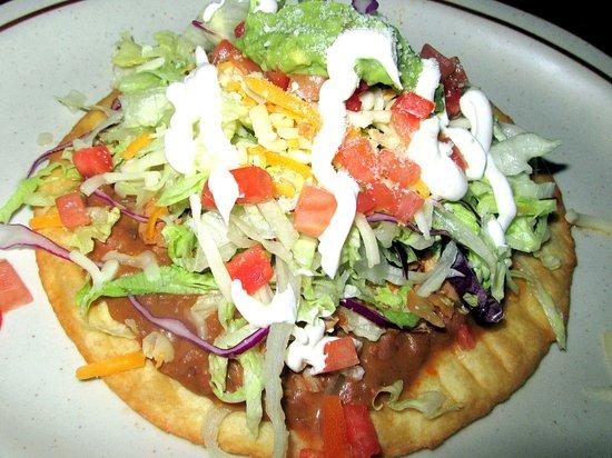 Tostada Chicken Salad, Baja Cactus Restaurant, Milpitas, CA