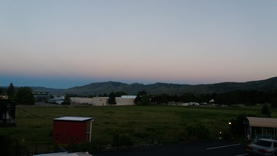 Manson, WA: View at sunset