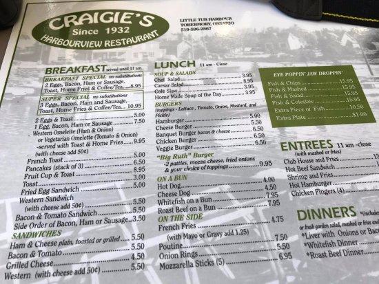 "Craigie's Harborview Restaurant: ""Nice Fish and Chips"""
