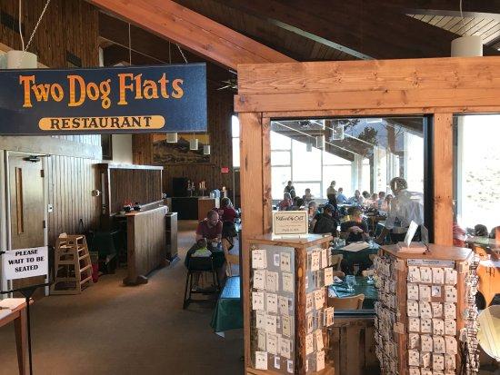 East Glacier Park, Montana: Restaurant, Registration desk and gift shop.