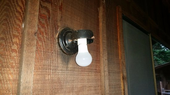 Captain Whidbey Inn: Missing globe on deck light