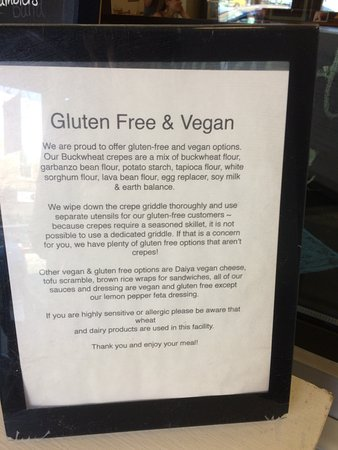Lee, MA: Starving Artist Cafe info for Gluten Free and Vegan