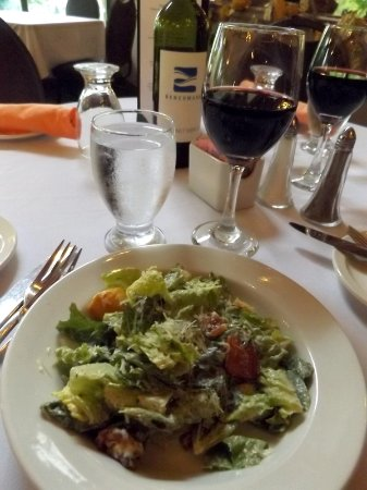 Fort Erie, Canada: Caesar salad with real bacon bits and croutons made from the Bridgewater's signature bread