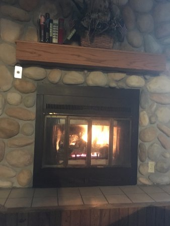 Cohasset, MN: Lodge fire place