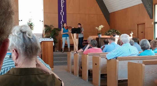 Moclips, WA: Music is part of many of the Sunday worship services at St. John's Chapel by the Sea (PCUSA).