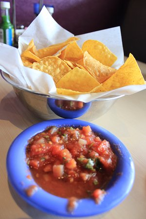 Shawnee, KS: Chips and chunky salsa.