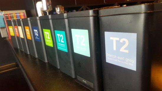 Red Peppa: We serve a huge variety of T2 teas.