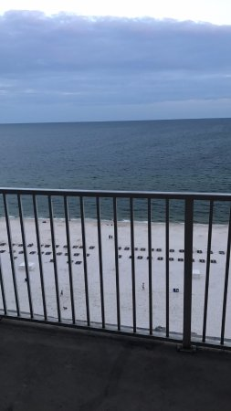 The Lighthouse Condominiums: view from the balcony of the beach