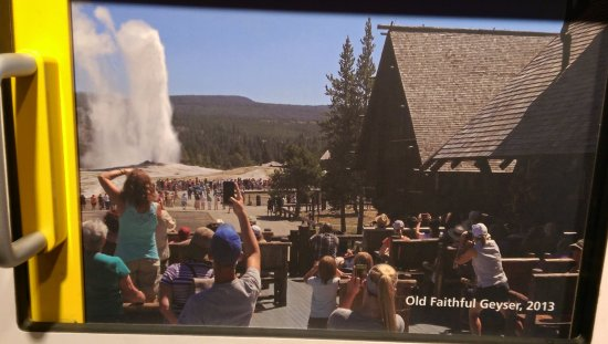 Fort Yellowstone Historic District: Photos on slide display in Visitor Center