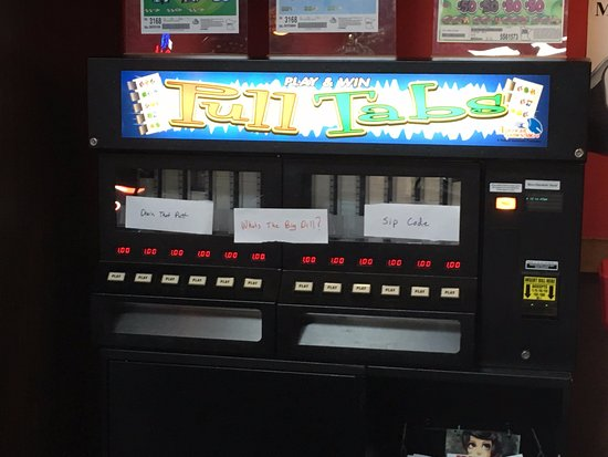 Faribault, MN: Electronic pull tab machine used to raise money for the new Minnesota Vikings Stadium.
