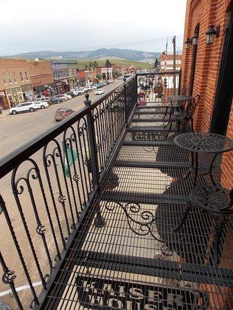 Philipsburg, Montana: Second floor balcony overlooking main street