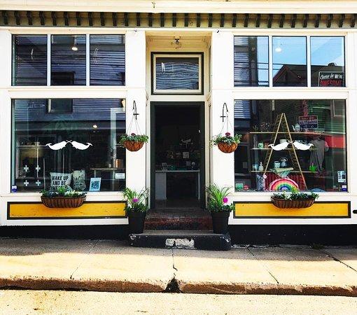 Lunenburg, Canada: Our shop in spring