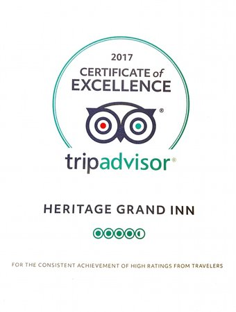 Canton, IL: 2017 CERTIFICATE OF EXCELLENCE FROM TRIPADVISOR