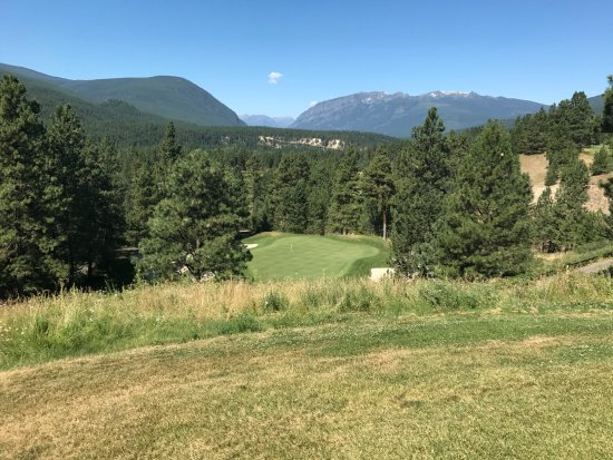 Kimberley, Canada: The challenging Par 3 on the back 9.
