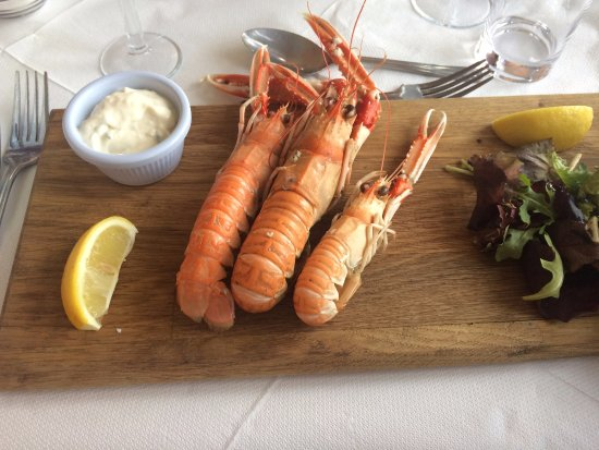 Isle of Colonsay, UK: Langoustine