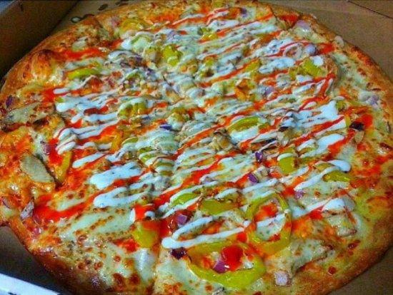 Victorville, Californië: Buffalo Chicken Pizza