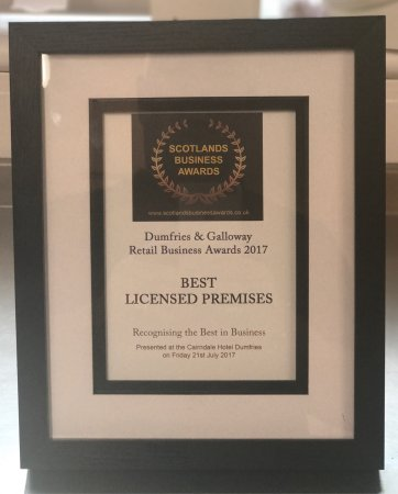 Lockerbie, UK: Winners of Best Licensed Premises in Dumfries & Galloway 2017