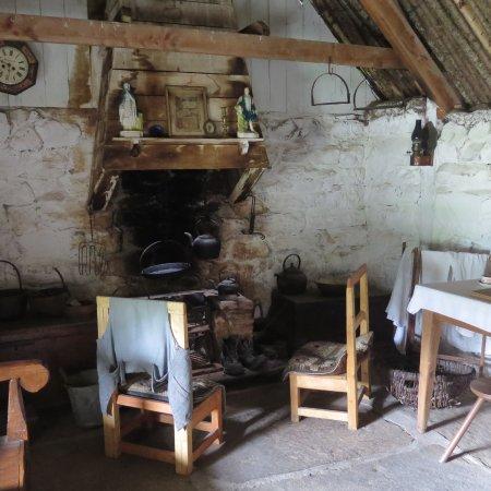 Newtonmore, Highland Folk Museum, intérieur d'une maison
