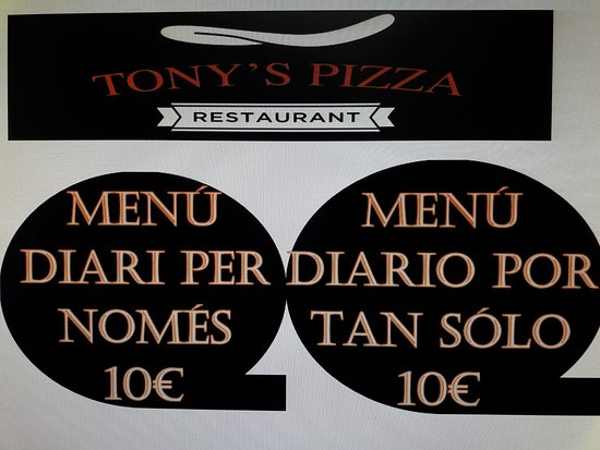 Сольсона, Испания: Meús de martes a viernes por 10€