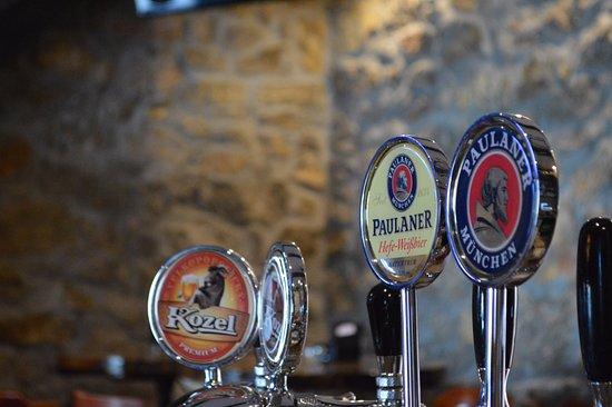 Slunj, Croatia: draft beer (KOZEL and PAULANER)