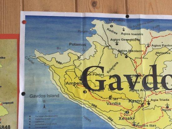 Taverna Gavdos Panorama: Map of the island