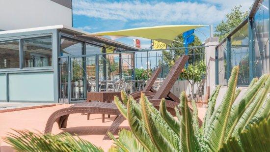 Boujan sur Libron, Frankrig: Vue terrasse