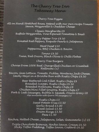 Wadhurst, UK: Take away menu now available