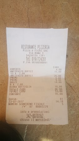 Sassello, Italy: Conto, 26 euro per un tagliere!