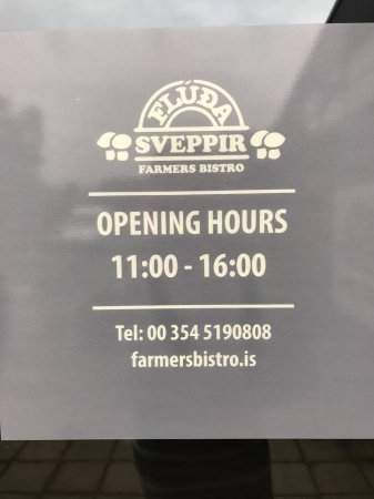 Fludir, Island: Opening hours