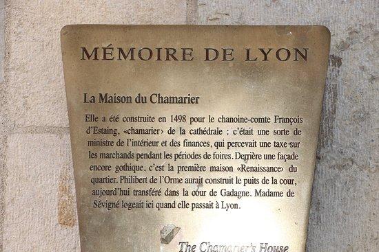 La maison du chamarier vieux lyon photo de office de tourisme de lyon lyon tripadvisor - Office du tourisme lyon telephone ...