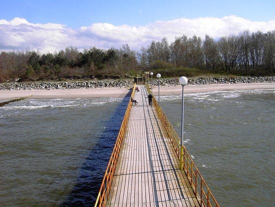 Ustronie Morskie, Poland: Die Mole