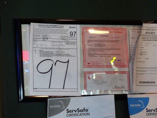 Hoover, AL: excellent Health Department Score