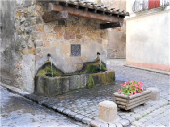 Cessenon-sur-Orb, Francia: The ancient fresh water spring at the end of our street.