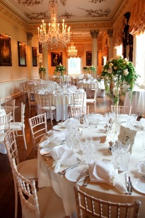 Stourbridge, UK: Long Gallery at Hagley Hall banquet style