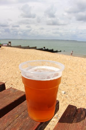 Old Neptune: Beers on the beach!