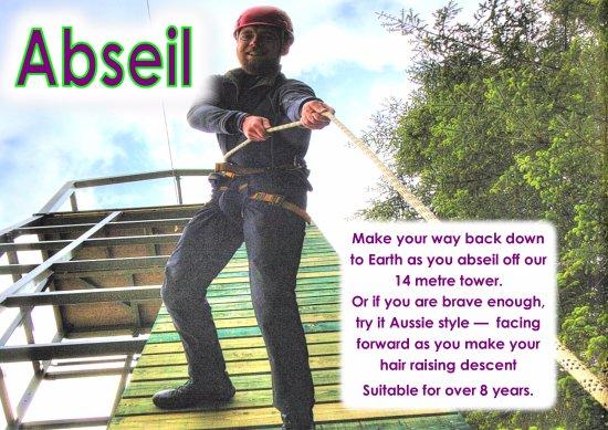 Keswick Climbing Wall: NEW ACYIVITY - Forward Facing Abseil - not for the faint  hearted !!