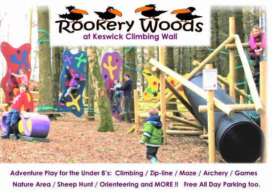 Keswick Climbing Wall: Adventure PLay for the 8's and unders