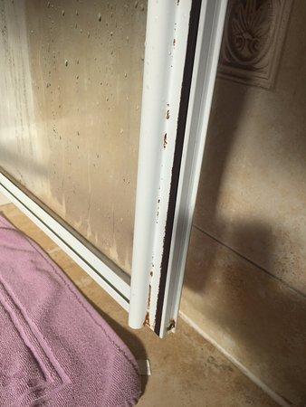 Spean Bridge, UK: Filthy Shower door