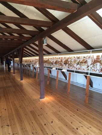 bayeux tapet Udsnit af montrerne med det danske Bayeux tapet   Picture of  bayeux tapet