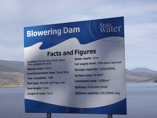 Tumut, Australia: Dam Spec's.