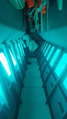 Victoria, Seyşeller: bateau fond en verre