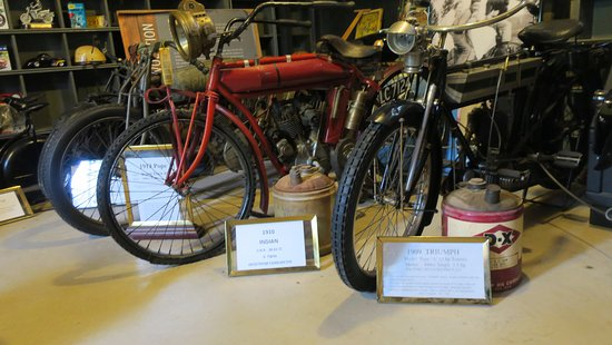 Chandler, OK: Two of the earliest real motorcycles