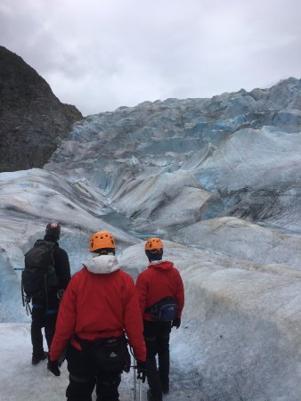 NorthStar Trekking: On top of Mendenhall Glacier ready to rock