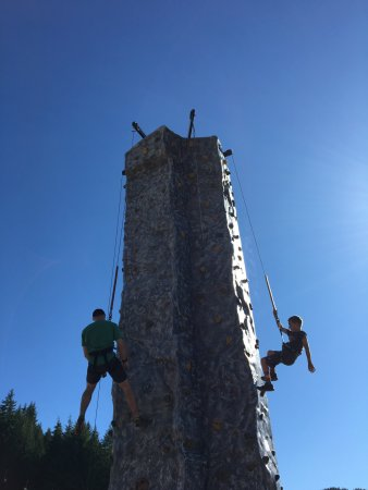 Government Camp, OR: Climbing wall at SkiBowl