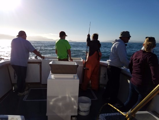 San Francisco Fishing Charter: Isaac taking care of the rods