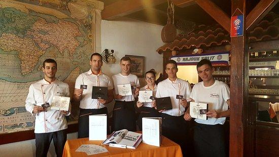 Jezera, Kroatia: Mi smo Hajduk!