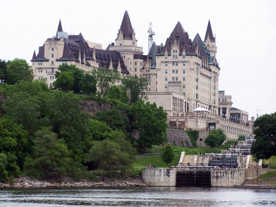 Locks & Chateau Laurier from Ottawa River