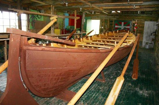 Conche, Canada: Replica Basques fishing boat at the French Shore Interpretation Centre